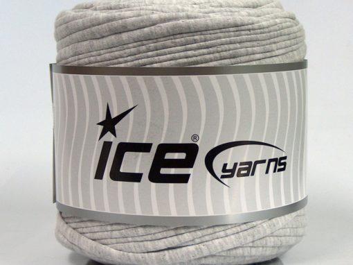 600 gr ICE YARNS UPCYCLED FABRIC 600 (95% Cotton 5% Elastan) Yarn Light Grey Melange