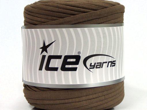 600 gr ICE YARNS UPCYCLED FABRIC 600 (95% Cotton 5% Elastan) Yarn Dark Brown