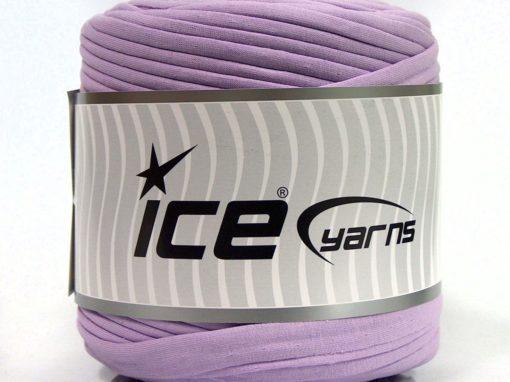 600 gr ICE YARNS UPCYCLED FABRIC 600 (95% Cotton 5% Elastan) Yarn Light Lilac