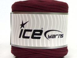 600 gr ICE YARNS UPCYCLED FABRIC 600 (95% Cotton 5% Elastan) Yarn Dark Maroon