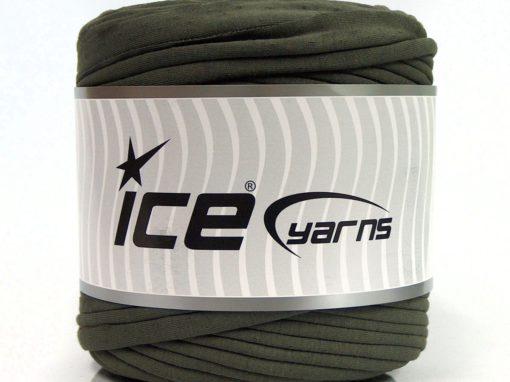 600 gr ICE YARNS UPCYCLED FABRIC 600 (95% Cotton 5% Elastan) Yarn Light Khaki