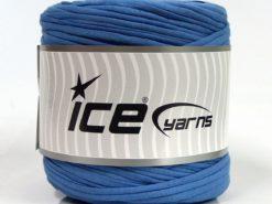 600 gr ICE YARNS UPCYCLED FABRIC 600 (95% Cotton 5% Elastan) Yarn Blue