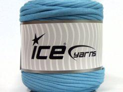 600 gr ICE YARNS UPCYCLED FABRIC 600 (95% Cotton 5% Elastan) Yarn Baby Blue