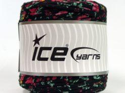 600 gr ICE YARNS UPCYCLED FABRIC 600 (95% Cotton 5% Elastan) Yarn Black