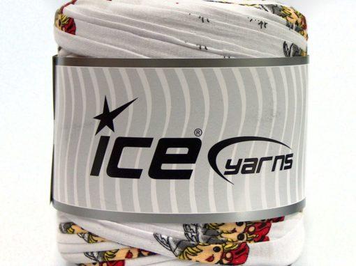 600 gr ICE YARNS UPCYCLED FABRIC 600 (95% Cotton 5% Elastan) Yarn White
