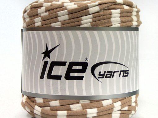 600 gr ICE YARNS UPCYCLED FABRIC 600 (95% Cotton 5% Elastan) Yarn Camel White