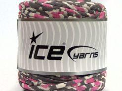 600 gr ICE YARNS UPCYCLED FABRIC 600 (95% Cotton 5% Elastan) Yarn Grey Pink White