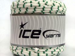 600 gr ICE YARNS UPCYCLED FABRIC 600 (95% Cotton 5% Elastan) Yarn White Green