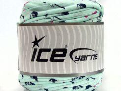 600 gr ICE YARNS UPCYCLED FABRIC 600 (95% Cotton 5% Elastan) Yarn Mint Green
