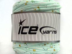 600 gr ICE YARNS UPCYCLED FABRIC 600 (95% Cotton 5% Elastan) Yarn Light MintGreen