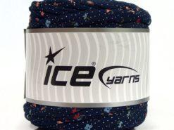 600 gr ICE YARNS UPCYCLED FABRIC 600 (95% Cotton 5% Elastan) Yarn Dark Navy