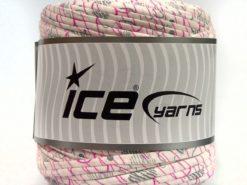 600 gr ICE YARNS UPCYCLED FABRIC 600 (95% Cotton 5% Elastan) Yarn Cream