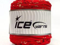 600 gr ICE YARNS UPCYCLED FABRIC 600 (95% Cotton 5% Elastan) Yarn Red