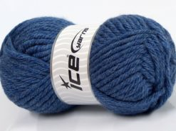 Lot of 4 x 100gr Skeins Ice Yarns ATLAS SUPERBULKY Yarn Jeans Blue
