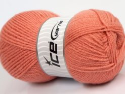 Lot of 4 x 100gr Skeins Ice Yarns Worsted FAVORITE Hand Knitting Yarn Salmon